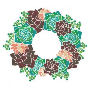 Succulent Wreath Square