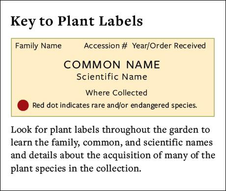 Plant Label Key