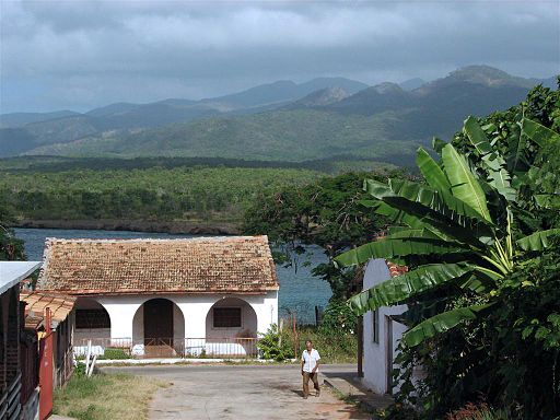 View of the Escambray Mountains from the town of La Boca.