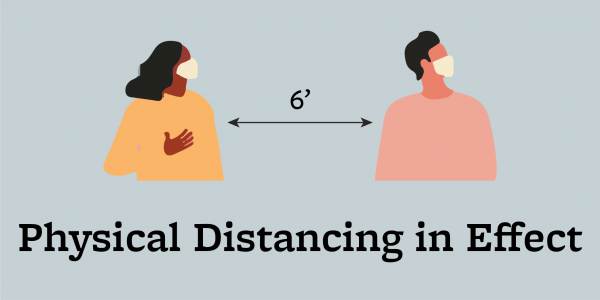 Physical Distancing in Effect