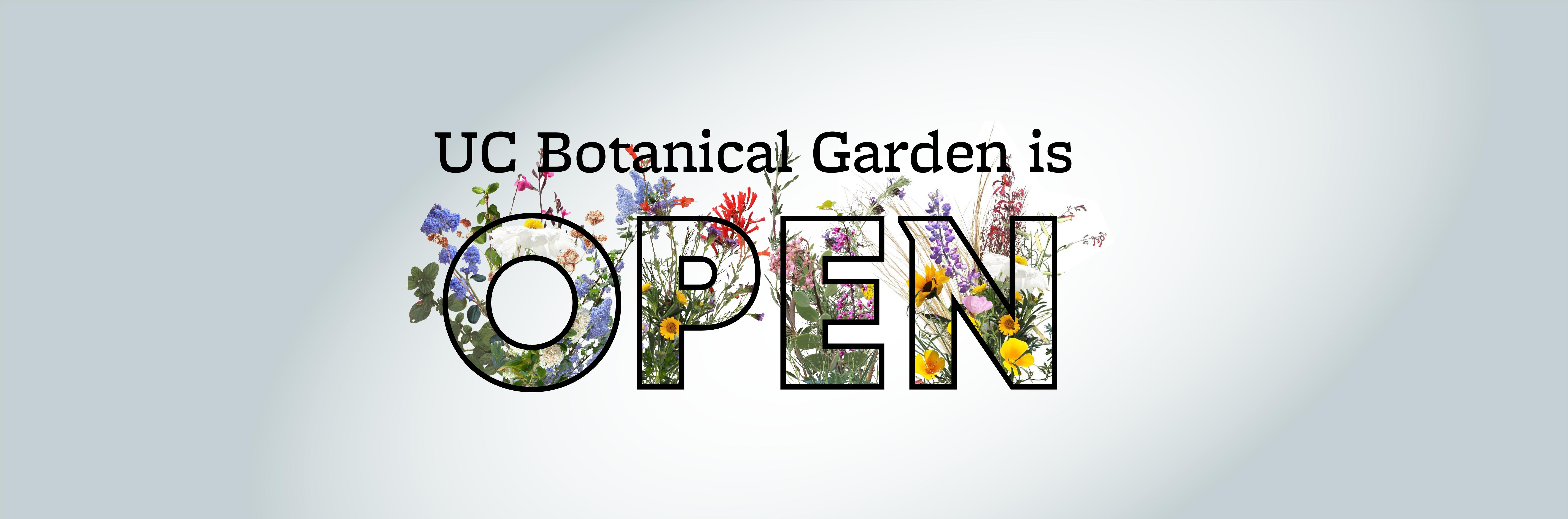 UC Botanical Garden is Open